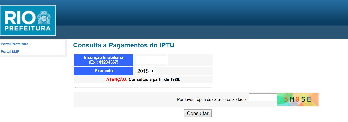 Consulta IPTU 2022 Rio de Janeiro