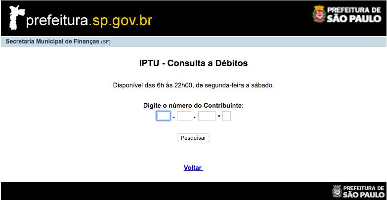 Consulta IPTU 2022 São Paulo