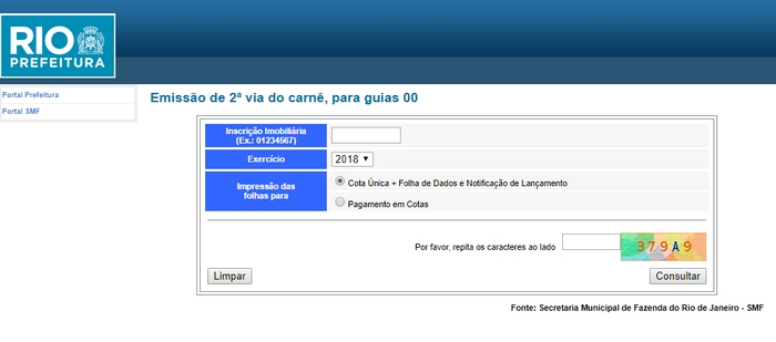 Segunda Via IPTU 2022 RJ
