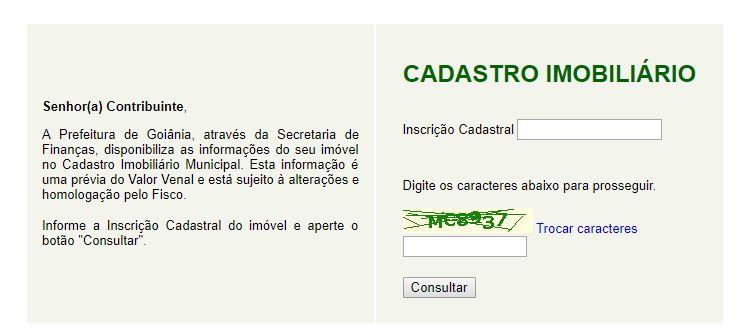Consulta IPTU Goiânia